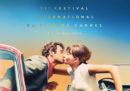 La locandina della 71ª edizione del Festival di Cannes, con Jean-Paul Belmondo e Anna Karina che si baciano