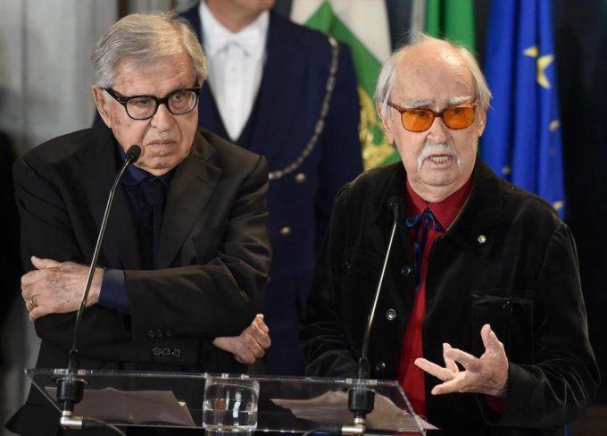 I fratelli Paolo (a sinistra) e Vittorio Taviani (a destra) al Quirinale 59a447325d8