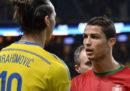 Ibrahimovic e la rovesciata di Cristiano Ronaldo