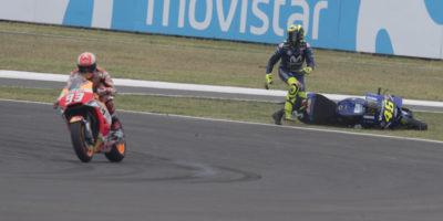 Marc Marquez ha fatto cadere Valentino Rossi nel Gran Premio d'Argentina