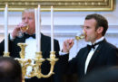 Le foto della cena di stato di Trump per Macron
