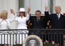 Le foto di Emmanuel Macron alla Casa Bianca