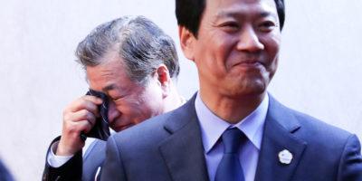Chi è l'uomo che piangeva all'incontro fra Kim Jong-un e il presidente sudcoreano