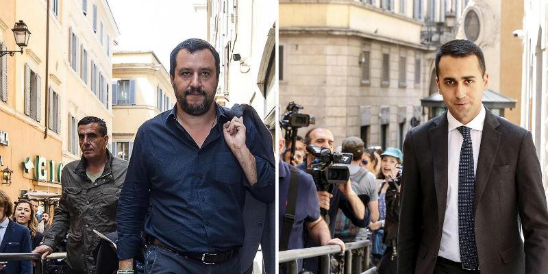 Lega-M5s, c'è il contratto Salvini e Di Maio: