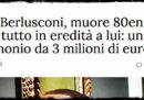 La storia dell'eredità per Berlusconi, ricostruita dalla fonte