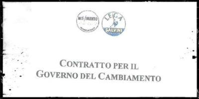"""La bozza del """"contratto"""" tra M5S e Lega"""
