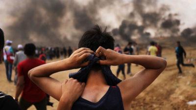 La giornata di lunedì a Gaza, in fotografie