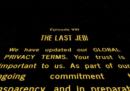 Anche Star Wars ha aggiornato le sue condizioni per la privacy