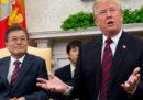 Donald Trump ha detto che l'incontro tra lui e Kim Jong-un potrebbe essere rimandato