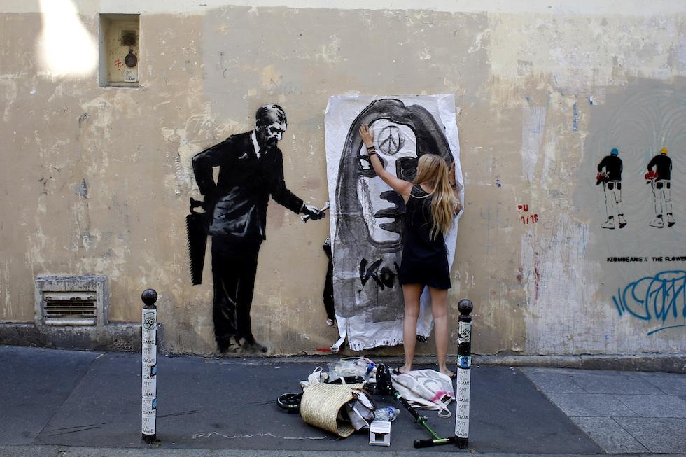 Parigi. Banksy, nuovi murales sulla crisi dei migranti
