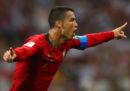 La tripletta di Cristiano Ronaldo contro la Spagna