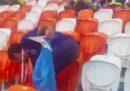I tifosi giapponesi e senegalesi ai Mondiali hanno pulito gli spalti dopo la partita