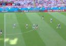 La grande progressione con la quale Mbappé si è procurato il rigore in Francia-Argentina