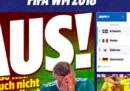 Le homepage dei giornali tedeschi dopo l'uscita della Germania dai Mondiali