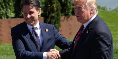 A Donald Trump 👍🏻 Giuseppe Conte