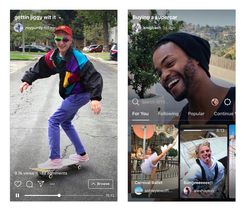 Instagram annuncia la tv in verticale