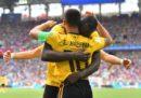 Il Belgio ha battuto 5-2 la Tunisia nel secondo turno del Gruppo G