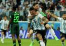 L'Argentina ha eliminato la Nigeria e si è qualificata agli ottavi di finale dei Mondiali