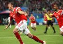 La Russia ha battuto 3-1 l'Egitto ed è vicina alla qualificazione agli ottavi di finale