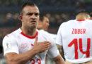 La Svizzera ha vinto 2-1 contro la Serbia nel Gruppo E dei Mondiali