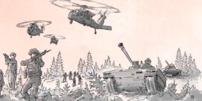 Com'è fatto l'opuscolo che prepara alla guerra distribuito in Svezia