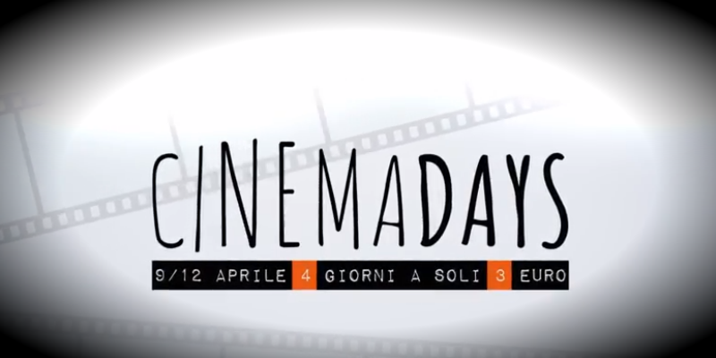CinemaDays 2018, 7 giorni di film al cinema a 3 euro