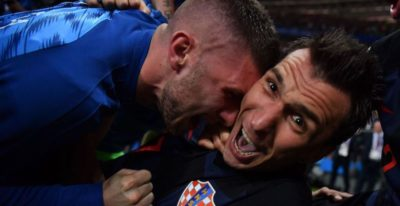 La vittoria della Croazia fotografata da MOLTO vicino