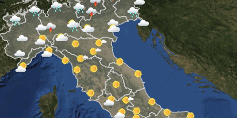 Le previsioni meteo per domani, sabato 21 luglio