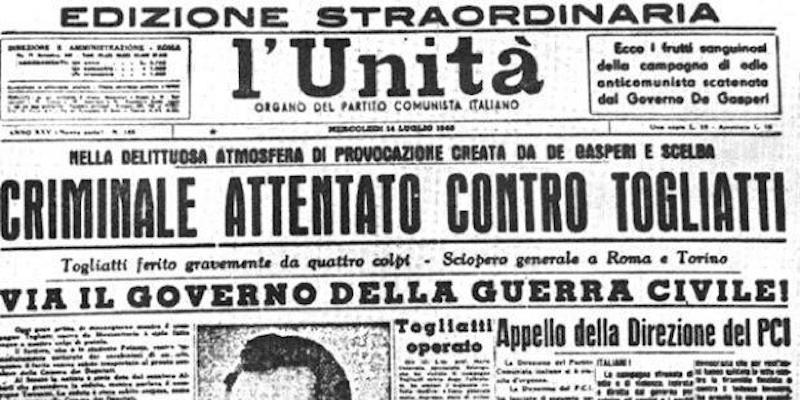 L'attentato a Palmiro Togliatti antonio pallante