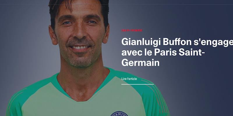 Psg ufficializza Buffon: 'Potevo venire solo a Parigi'