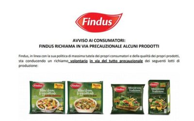 Findus ha fatto un richiamo di alcuni suoi prodotti perché potrebbero essere contaminati dal batterio Listeria