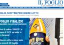 """Il """"Foglio Vitalizio"""", la risposta del Foglio a Rocco Casalino"""