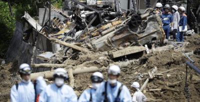 I morti nelle alluvioni in Giappone sono 179