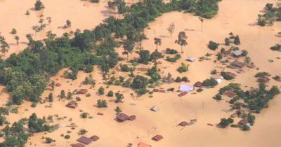 È crollata una diga in Laos