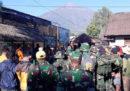 560 escursionisti sono intrappolati su un vulcano in Indonesia per il terremoto