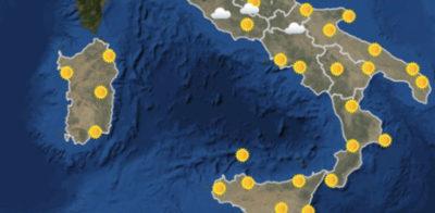 Le previsioni meteo per giovedì 19 luglio