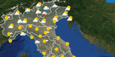 Le previsioni meteo per venerdì 20 luglio
