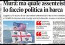 Andrea Mura e la politica in barca