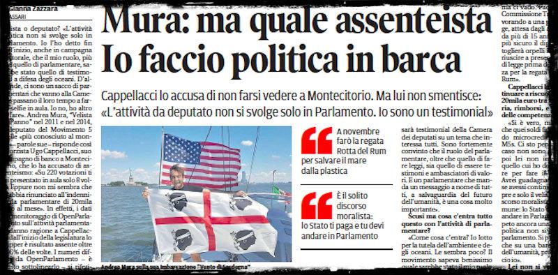 Da qualche giorno si sta parlando molto del deputato del Movimento 5 Stelle  Andrea Mura 12352b71b58