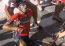 La caduta di Nibali al Tour de France