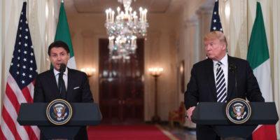 L'incontro a Washington tra Trump e Conte