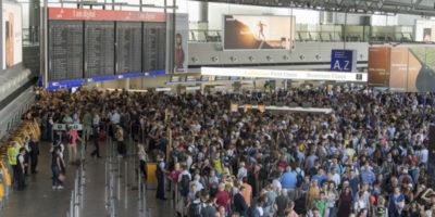 È stata evacuata parte dell'aeroporto di Francoforte per una violazione della sicurezza
