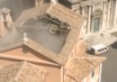 È crollato il tetto della chiesa diSan Giuseppe dei Falegnami a Roma, non ci sono feriti