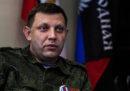 Una bomba ha ucciso uno dei capi dei ribelli filorussi in Ucraina, Aleksandr Zacharčenko, dice Reuters