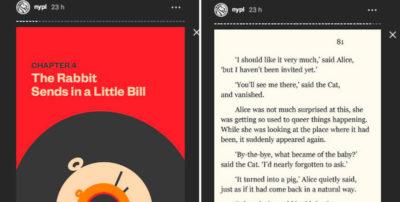 Libri che si leggono come Storie su Instagram