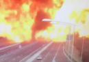 L'esplosione sulla A14 a Bologna