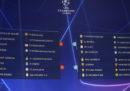Il calendario delle italiane in Champions League