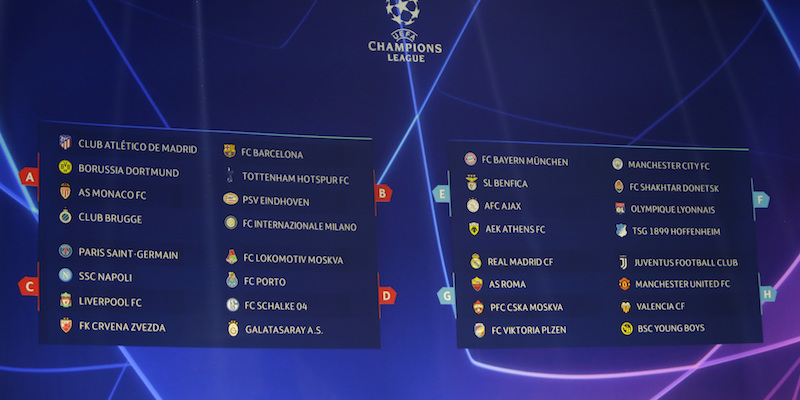 Calendario Partite Champions.Il Calendario Delle Italiane In Champions League Il Post