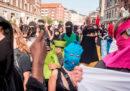Le proteste contro il divieto del niqab, in Danimarca