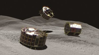 L'agenzia spaziale giapponese è in attesa di un segnale dai suoi robot da poco sganciati sull'asteroide Ryugu